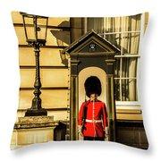 Queens Guards. Throw Pillow