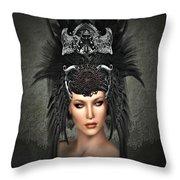 Queens Headress Throw Pillow