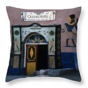 Queen's Hotel Habou Egypt Throw Pillow