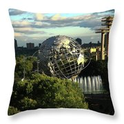 Queens New York City - Unisphere Throw Pillow
