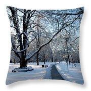 Queen's Park Pathway Throw Pillow