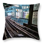 Queens Rails Throw Pillow