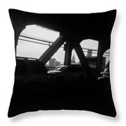 Queens To Manhattan Throw Pillow