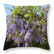 Queen's Wreath Vine Throw Pillow