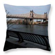 Queensboro Bridge, Nyc Throw Pillow