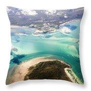 Queensland Island Bay Landscape Throw Pillow