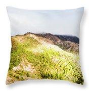 Queenstown Tasmania Wide Mountain Landscape Throw Pillow