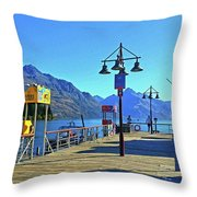 Queenstown's Majestic Mountains Throw Pillow