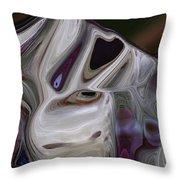 Querulous Hound Throw Pillow by Wayne King