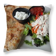 Quesadilla And Salad Throw Pillow
