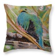 Quetzal In Costa Rica Throw Pillow