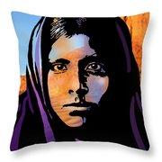 Quhatika Girl Throw Pillow
