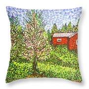 Quick Blossoms, New Grass Throw Pillow