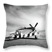 Quick Silver P-51 Throw Pillow