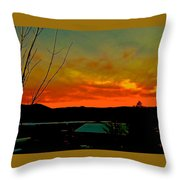 Quicksilver Sunset Throw Pillow