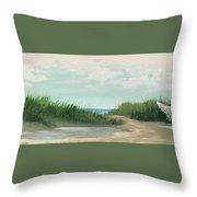 Quiet Beach Throw Pillow