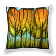 Quiet Blaze Throw Pillow