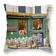 Quiet Cafes In Palma Majorca Spain   Throw Pillow