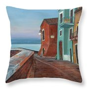Quiet Sicilian Town Throw Pillow