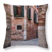 Quiet Corner In Venice Throw Pillow