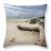 Quiet Day At The Beach Throw Pillow