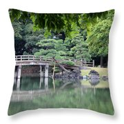 Quiet Day In Tokyo Park Throw Pillow
