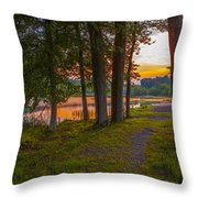 Quiet Evening, Pocono Throw Pillow