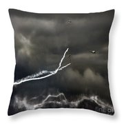 Quiet Flight Throw Pillow