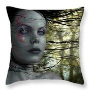 Quiet Gaze V2 Throw Pillow
