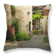 Quiet Lane In St Cirq I France Throw Pillow