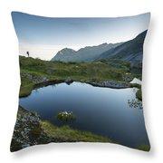 Quiet Lofoten Throw Pillow