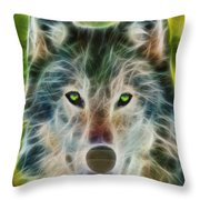 Quiet Majesty - Fractalized Version Throw Pillow