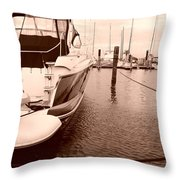 Quiet Marina Throw Pillow