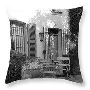 Quiet Moment  At Saint -  Tropez Throw Pillow