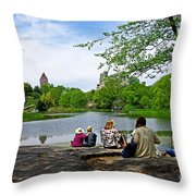 Quiet Moment In Central Park Throw Pillow