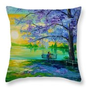 Quiet Night Throw Pillow