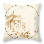 Quiet Night Thoughts Throw Pillow