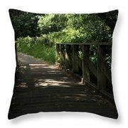 Quiet Path Bridge Throw Pillow