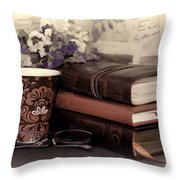 Quiet Reading Time Throw Pillow