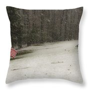 Quiet Remembrance Quantico National Cemetery Throw Pillow