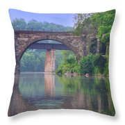 Quiet River Throw Pillow