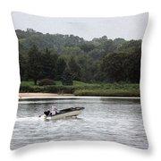 Quiet River Throw Pillow