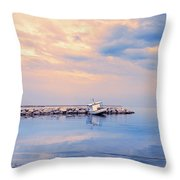 Quiet Sea Throw Pillow