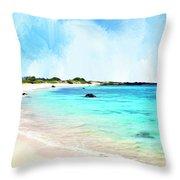 Quiet Shore Near Makalawena Throw Pillow