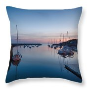 Quiet Solitude Rockport Harbor Throw Pillow