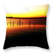 Quiet Time At Lake Mary  Throw Pillow