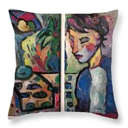 Quiet Time Carter Throw Pillow