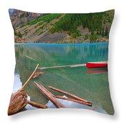 Moraine Lake I, Alberta Throw Pillow