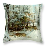 Quiet Winter Afternoon Throw Pillow