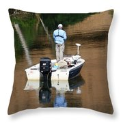 Quietly Fishing Throw Pillow